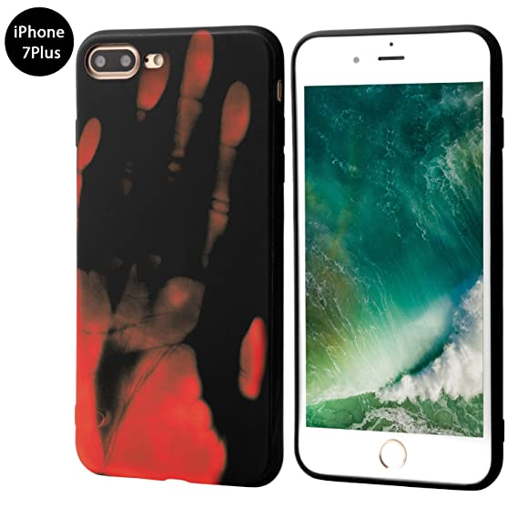 brand new 02cc5 233d1 Seternaly Creative Thermal Sensor Cases Cool Cover for iPhone 7 Plus/iPhone  8 Plus [5.5