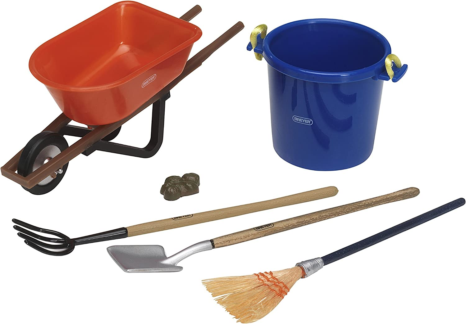 B00005ME2O Breyer Traditional Stable Cleaning Set (1:9 Scale) 71DTEm1GH9L