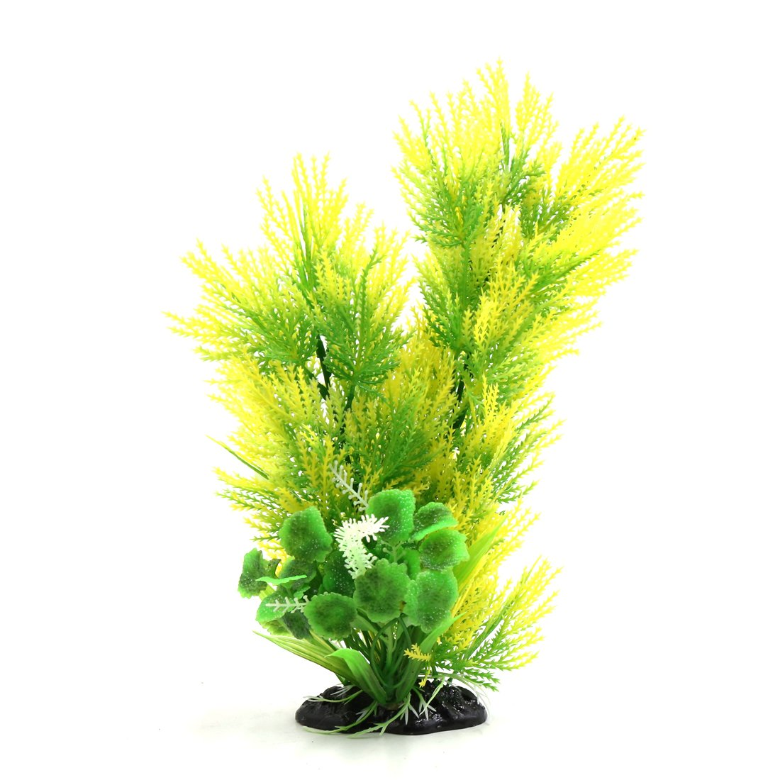 Uxcell Yellow Green Plastic Plants Decor Aquarium Terrarium Habitat Ornamentation for Reptiles and Amphibians