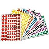 APLI-AGIPA Paquet de 1040 gommettes Rondes Couleurs et Formats Assortis - 10 feuilles 160x216 mm
