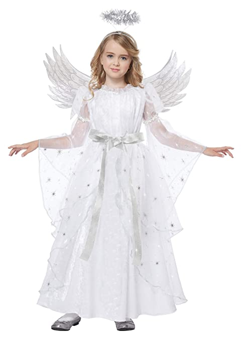 Kids Girls Elegant Starlight Snowflake Fairy Angel Halloween Costume Dress up and Role Play