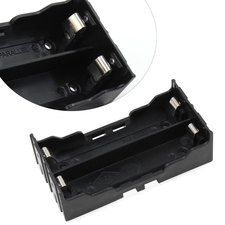 2 Solts /× 6 Piezas KEESIN 3.7V 18650 Bater/ía Poseedor Caso El plastico Tapa de la bater/ía Caja de almacenamiento con pin