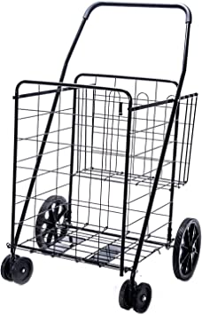 Deluxe Tirer 2 roues Shopping Chariot Avec XL Capacité Sac /& Strong Roues