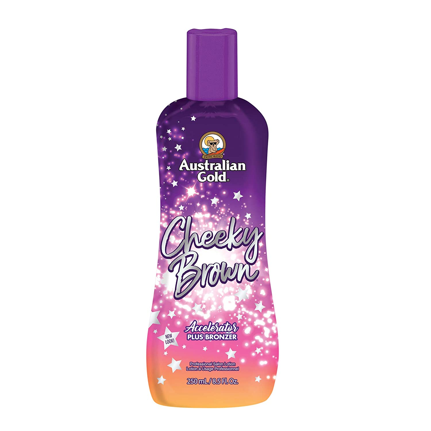 Australian Gold, CHEEKY BROWN Accelerator Dark Natural Bronzers, Tanning Bed Lotion 8.5 oz AGCheekyB250
