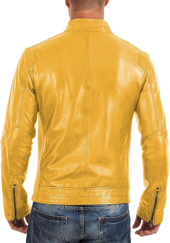1501165 Black, Racer Jacket Laverapelle Mens Genuine Lambskin Leather Jacket