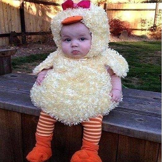fd2200e4cd7e1 Amazon.co.jp: ホットセールwoaills Cartoon Chickパーカー暖かいチョッキトップス、ベビー男の子女の子服衣装新生児Mini  Infant 6M イエロー 1  ホーム キッチン