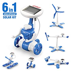 CIRO solar science kit 6-in-1 educational STEM learning building toys for kids