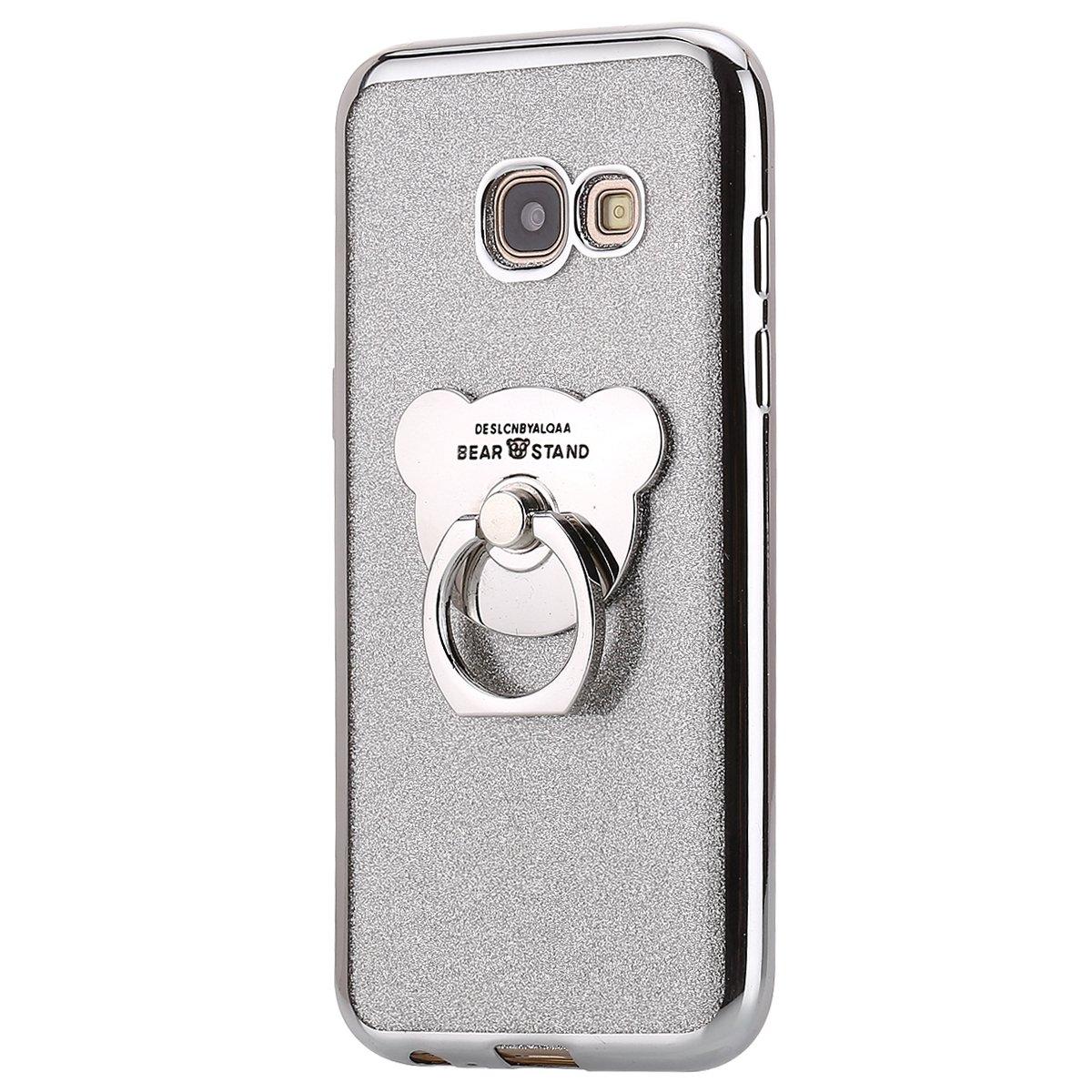 MoreChioce kompatibel mit Galaxy A5 2017 H/ülle,kompatibel mit Samsung Galaxy A5 2017 H/ülle Bling Diamant Durchsichtig Weich Silikon Handyh/ülle Sto/ßfest Schutzh/ülle Handytasche mit Ring