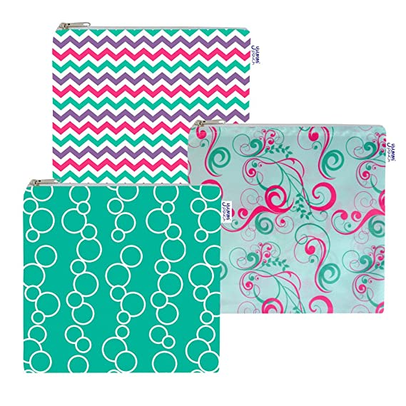 Amazon.com: Set de 3 bolsas de tela para sándwiches ...