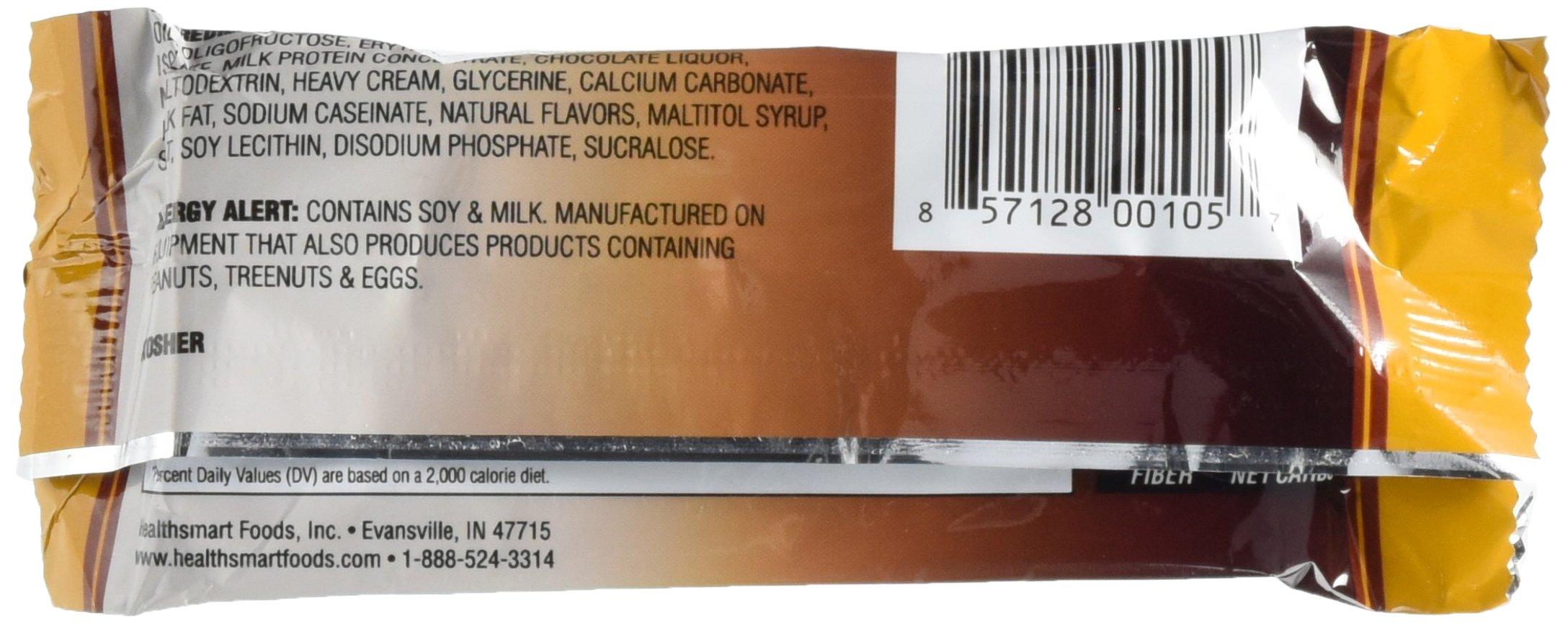Healthsmart Chocolite Bar Chocolate Crispy Caramel -- 16- 24g(.84oz) Bars by Health Smart Foods (Image #5)