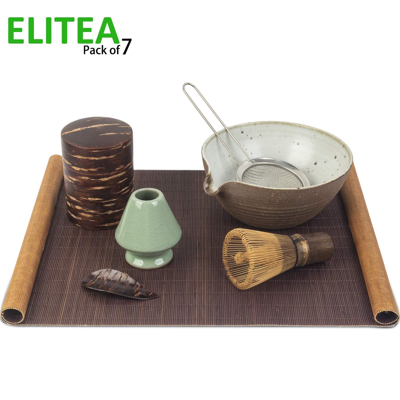 ELITEA Matcha Bowl Whisk Whisk Holder Matcha Tea Container (Matcha Set)