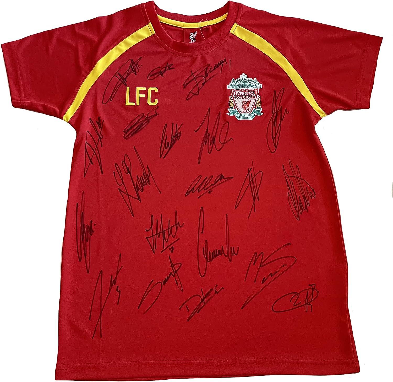Camiseta firmada por Liverpool : Amazon.es: Deportes y aire libre