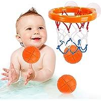 مجموعة العاب كرات السلة وحلقة السلة من ناشيرو ممتعة اثناء الاستحمام ومناسبة للاطفال الصغار بعمر من 2 - 5 سنوات وهدية…