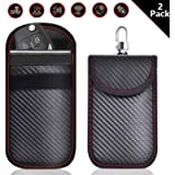 AZMAUTO Faraday Bag for Key Fob (2 Pack), Car RFID Signal Blocking, Anti-Theft Pouch, Anti-Hacking Case Blocker, Faraday…