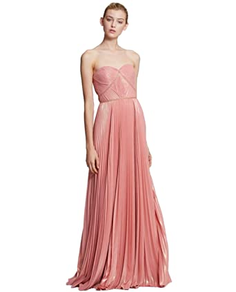 1bd34ff2d7 Marchesa Notte Women's Strapless Pleated Gown at Amazon Women's Clothing  store: