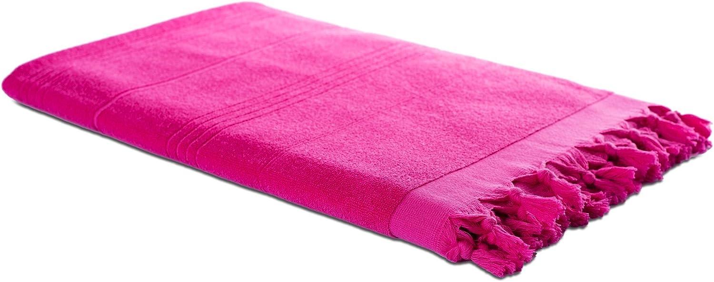 Carenesse Hamamtuch KELIM Ethno rot Hochwertiges Doubleface Tuch aus 100/% Baumwolle Kurze Fransen 90 x 175 cm Strandtuch Saunatuch Schultertuch Stola Pareo