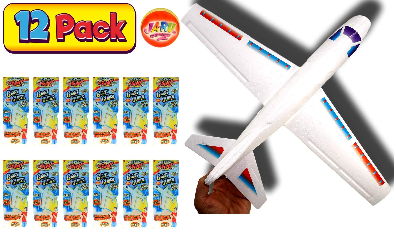 Giant Airplan2GoodShop | Kids Fying Toe Glider by y Build It, Throw It and Watch It Glide Hours of Outdoor Fun. Pack of 12 | Item #1030 by 2GoodShop