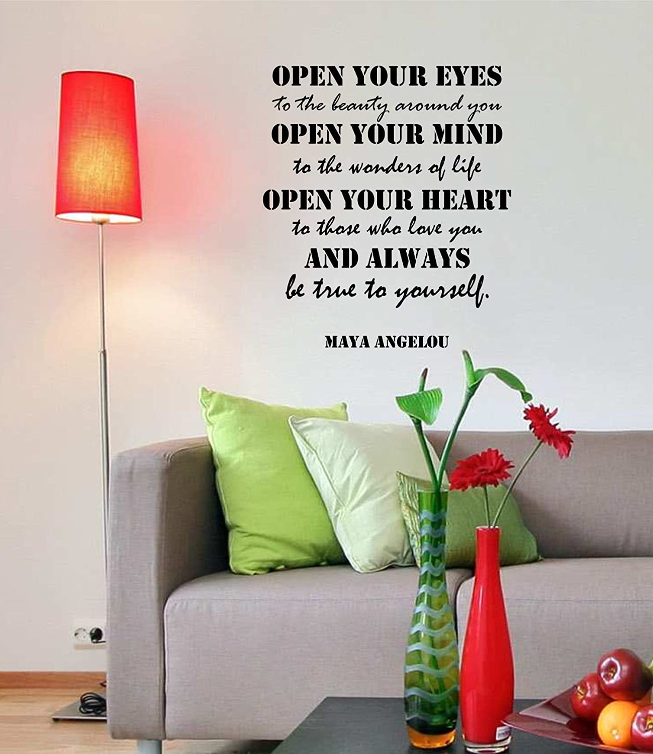 Amazon.com: Maya Angelou Quotes Inspirational Wall Decals Vinyl Wall Art: A  Wall Decal Inspiring Quotes   Famous Quotes Wall Decor   Wall Art Stickers  Quote ...