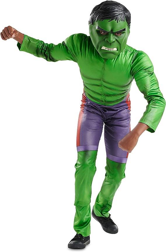 Disfraz de Hulk de Marvel para niños, Verde, 3: Amazon.es: Ropa y ...