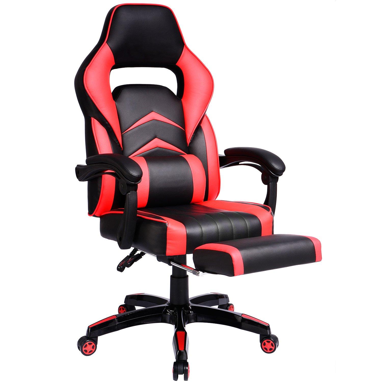 gtracing ergonómico Gaming Racing - Silla de espalda alta silla Napping ordenador silla de oficina con acolchado Reposapiés: Amazon.es: Oficina y papelería