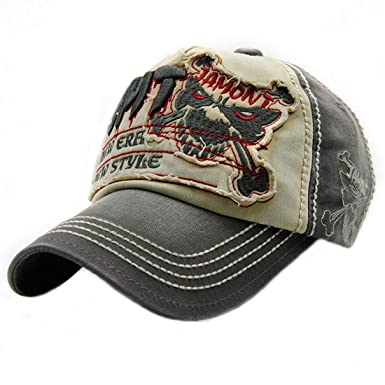 dbae3e373f5 King Star Men Distressed Vintage Cotton Washed Baseball Cap Snapback  Trucker Hat Army Green  Amazon.ca  Clothing   Accessories