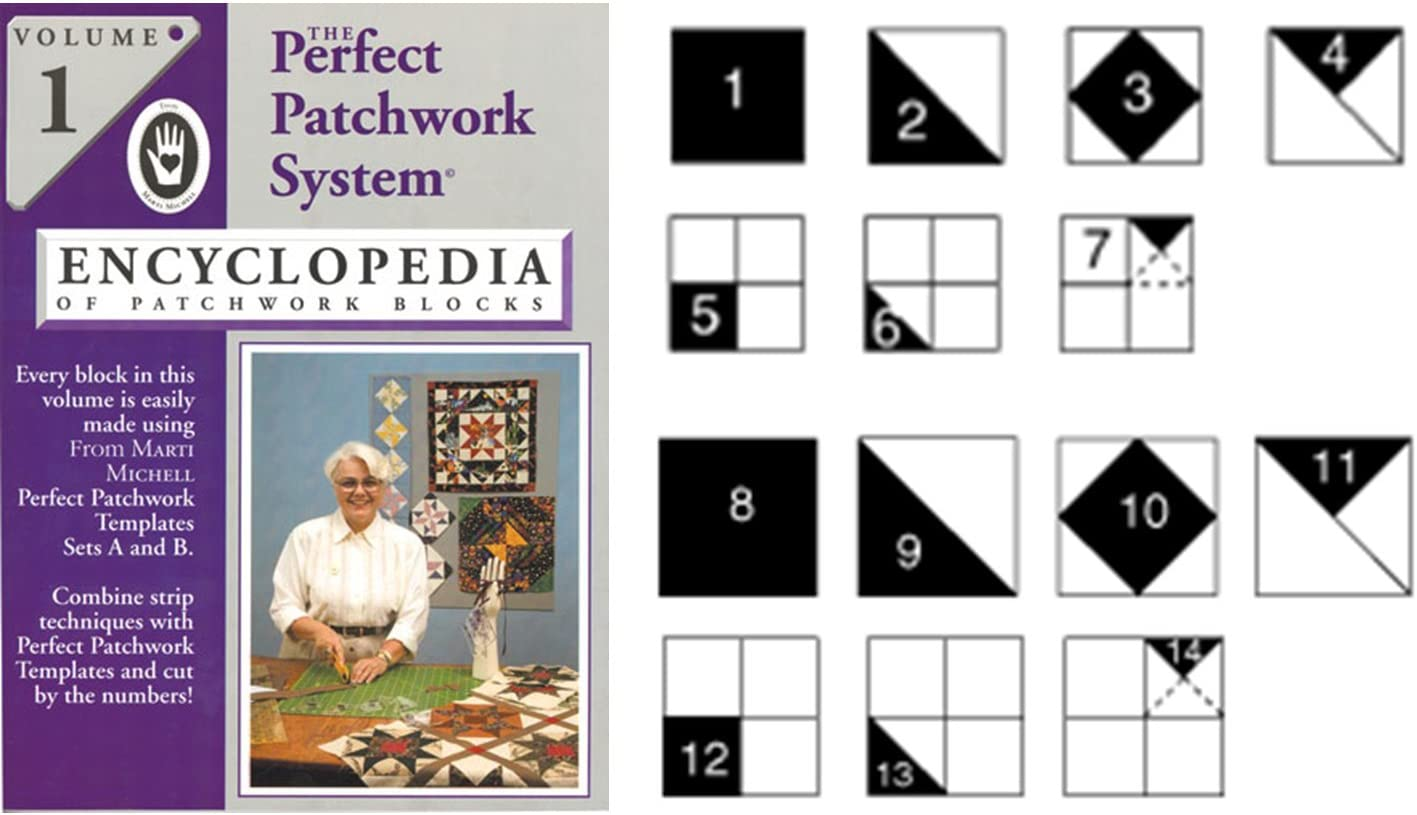 Includes Required Templates Sets A and B Marti Michell Perfect Patchwork System Volume 1 Bundle
