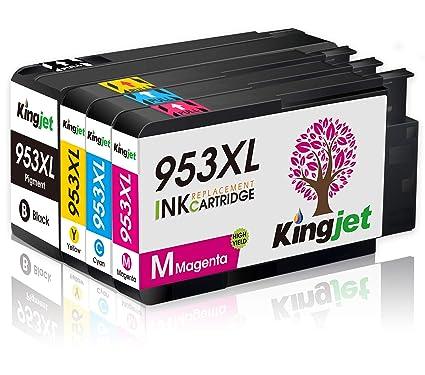 Kingjet rendimiento 953XL Cartuchos de Tinta con Chip und Alto ...