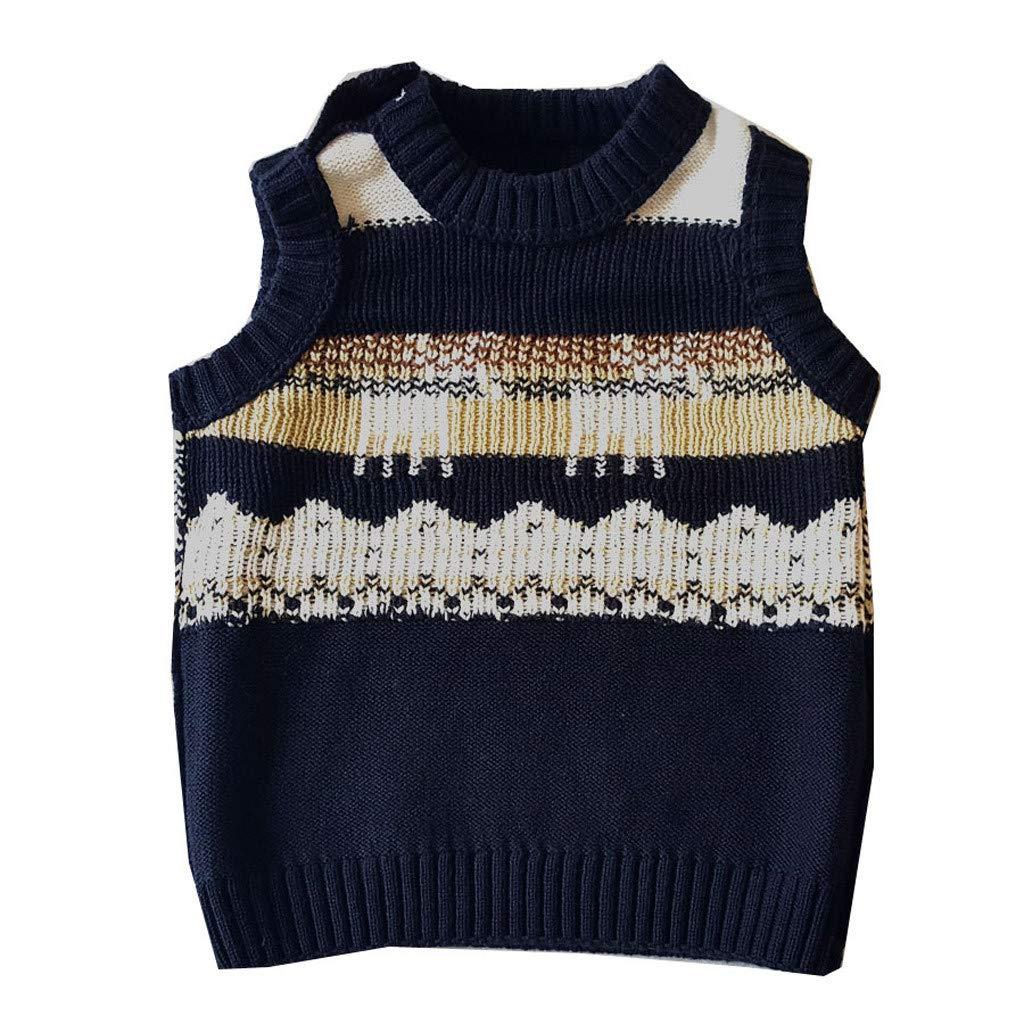 HEETEY Baby M/ädchen Junge Winter Herbst Deer Sweater gestrickte warme Weste Babyweste Weihnachten Fawn Sweater Vest