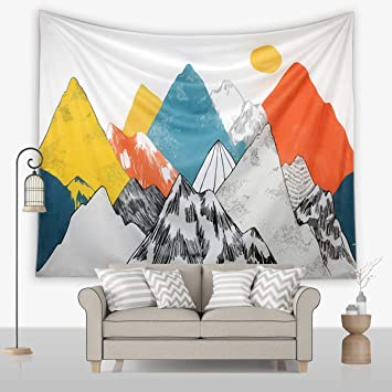 Jring Tapestry Wall Hanging Mountain Sunshine Tapestry Nature Landscape Colorful Decorative Tapestry For Room And Outdoor 59 1ʺ 78 7ʺ