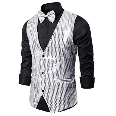 MrTom Chaleco Hombre Traje Vestir Casual Boda Fiesta Blazers ...