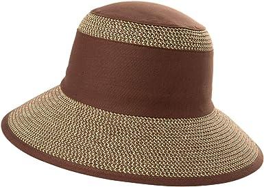 Waroom-Store Women Foldable Outdoor Sunscreen Straw Hat Ribbon Uv Protection Large Brim Summer Sunhat Panama