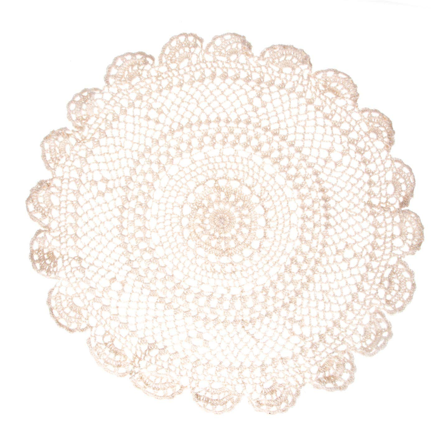 Darice Bulk Buy DIY Crafts Doily Ecru 20 inches (12-Pack) 4011-20-ECRU