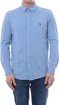 Polo Ralph Lauren Camisa Pique Celeste Hombre XL Azul: Amazon ...