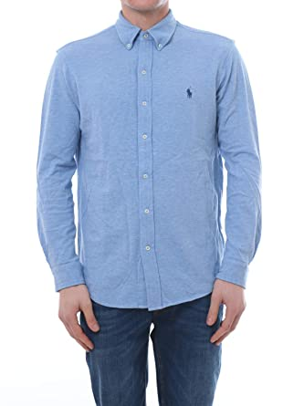 Polo Ralph Lauren Camisa Pique Celeste Hombre XL Azul: Amazon.es ...