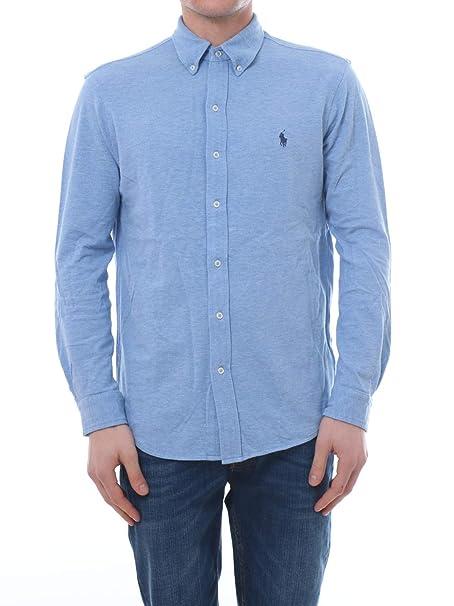 Polo Ralph Lauren Camisa Pique Celeste Hombre XL Azul: Amazon.es ...