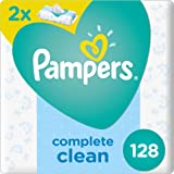 Pampers Fresh Clean Baby Wipes, Dual Pack, 128 Count, 4015400439202