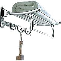 GARBNOIRE 202 Grade Stainless Steel 2 feet Long Folding Bathroom Towel Rack/Swivel Towel Bar, Stainless Steel Wall…