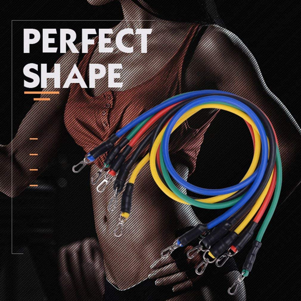 Elastic Tube Fitness Shape KISS Bandas Elasticas Musculacion TPE 11 Pcs Set Fitness Rally Pulling Rope Neutral Environmental Protection Foam