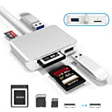 【Upgraded Version】 XQD Card Reader USB 3.0 SD(HC/XC) TF Card Reader,XQD Reader Compatible with Sony G/M Series USB Mark…
