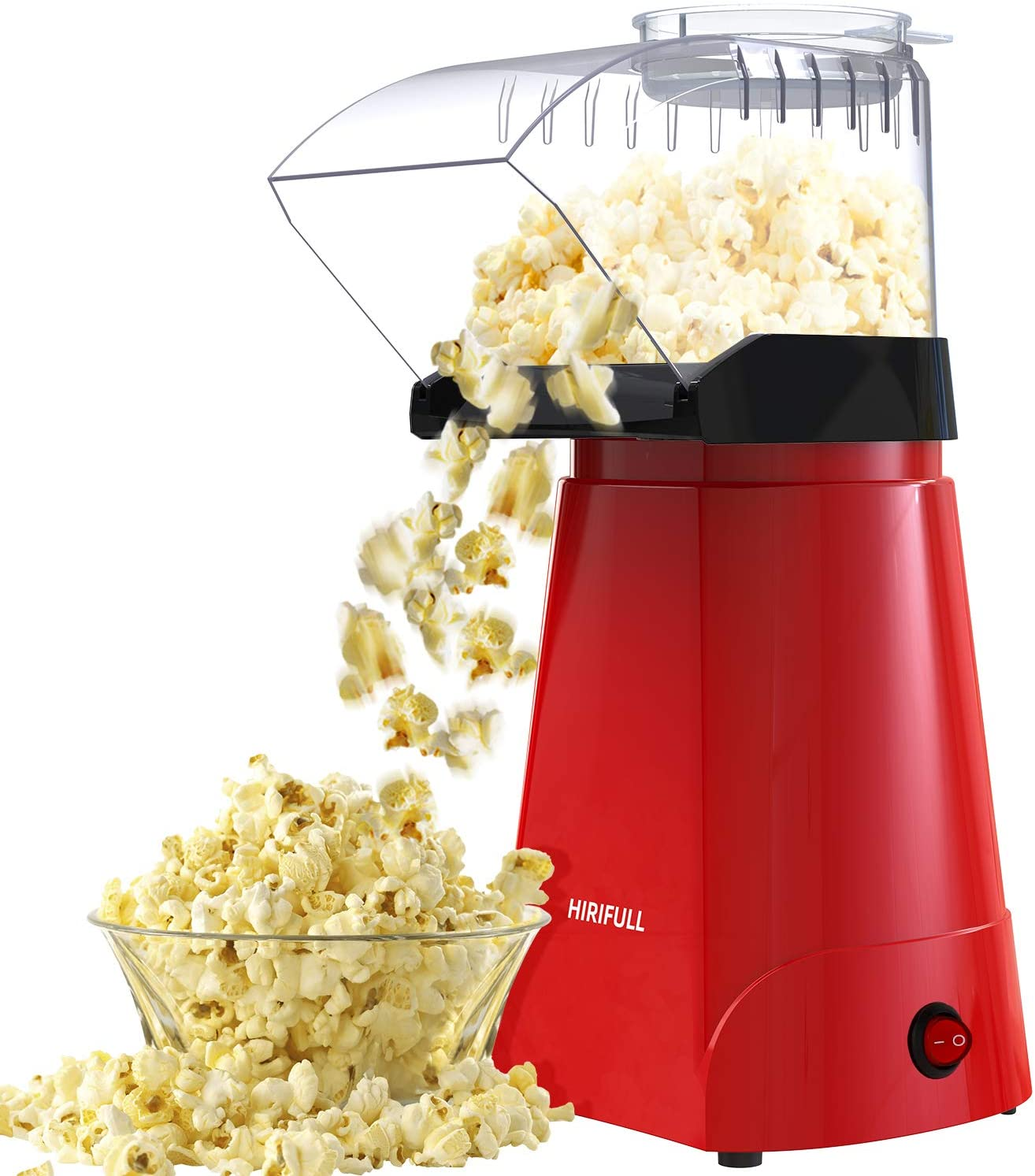 white AKlamater Electric Hot Air Popcorn Machine Healthy Home Popcorn Home Made Treats For Healthy Less Fat Popcorn 1200w
