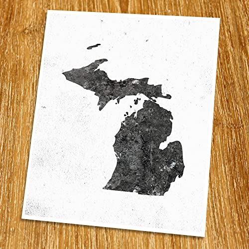 Amazon Com Michigan Map Print Unframed Minimalist Map Art