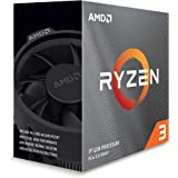 AMD Ryzen 3 3100, 4-Core/8 Threads Unlocked, Max Freq 3.9GHz, 18MB Cache Socket AM4 65W with Wraith Stealth Cooler, 100…