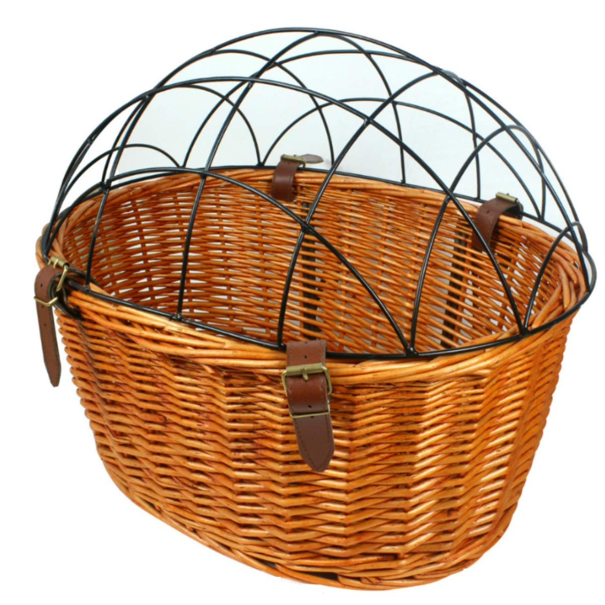 Dog Basket for Bike Bicycle Front Pet Cat Carrier Cage Willow Cage Hanging Basket Capacity12lbs by AORYVIC