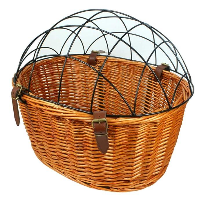 Amazon.com: Perro cesta para bicicleta cesta de mimbre ...