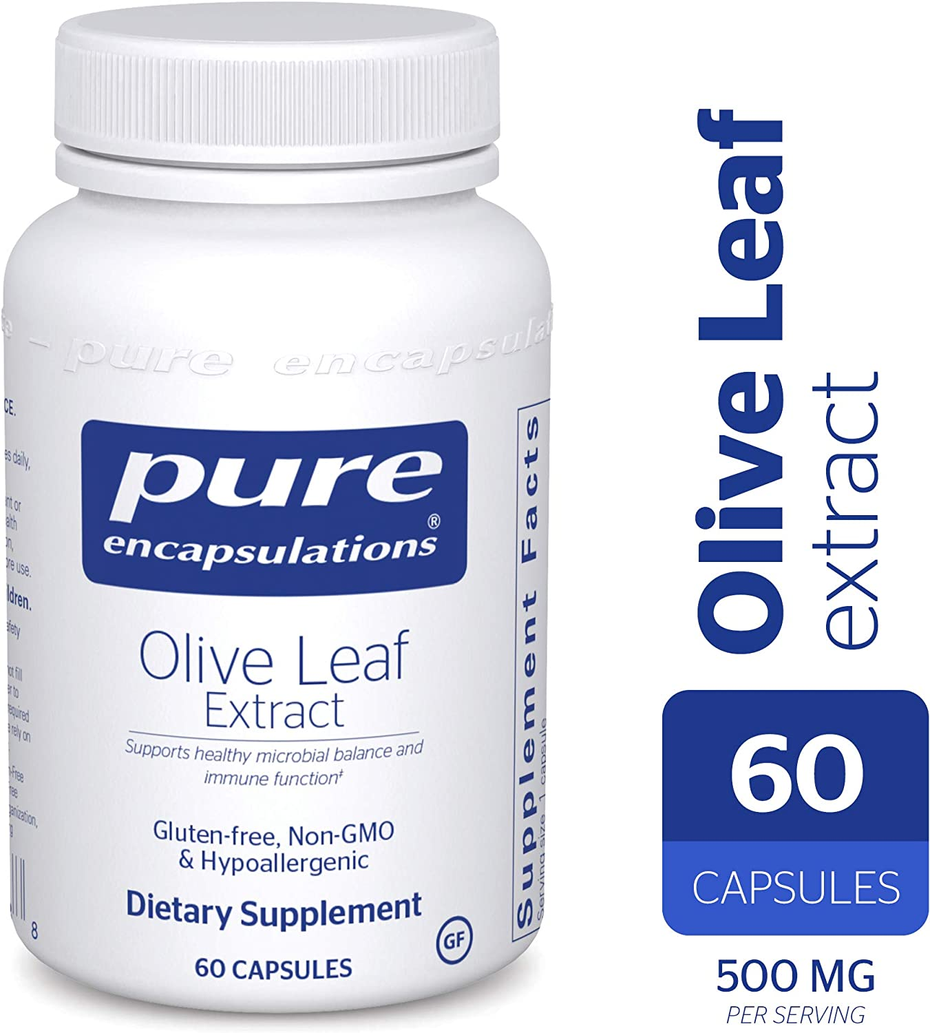 Pure Encapsulations – Olive Leaf Extract – Hypoallergenic Supplement Supports Immune System and Healthy Intestinal Environment* – 60 Capsules
