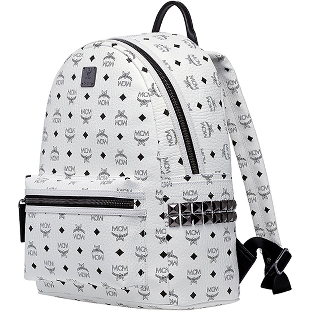 100% Authentic MCM STARK Medium Backpack leather White MMK5SVE38WT with  Dust Bag: Amazon.co.uk: Computers & Accessories