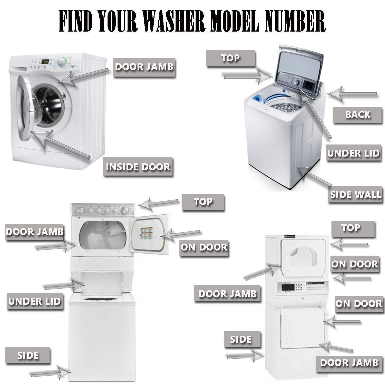 4 Set of Shock Absorber for Washer 8182703 WP8182703 8181646
