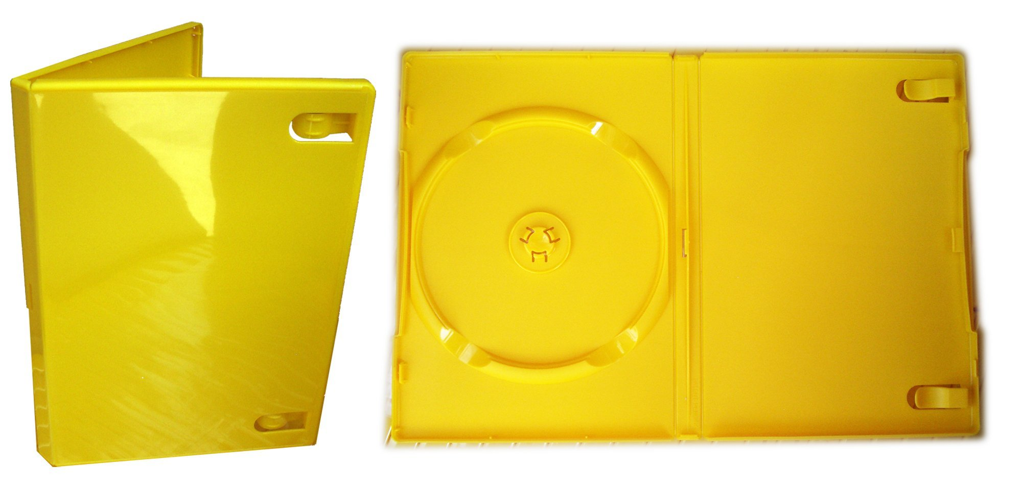 Naber Bv High Quality Single Dvd Libray Case Pack Of 50 Yellow