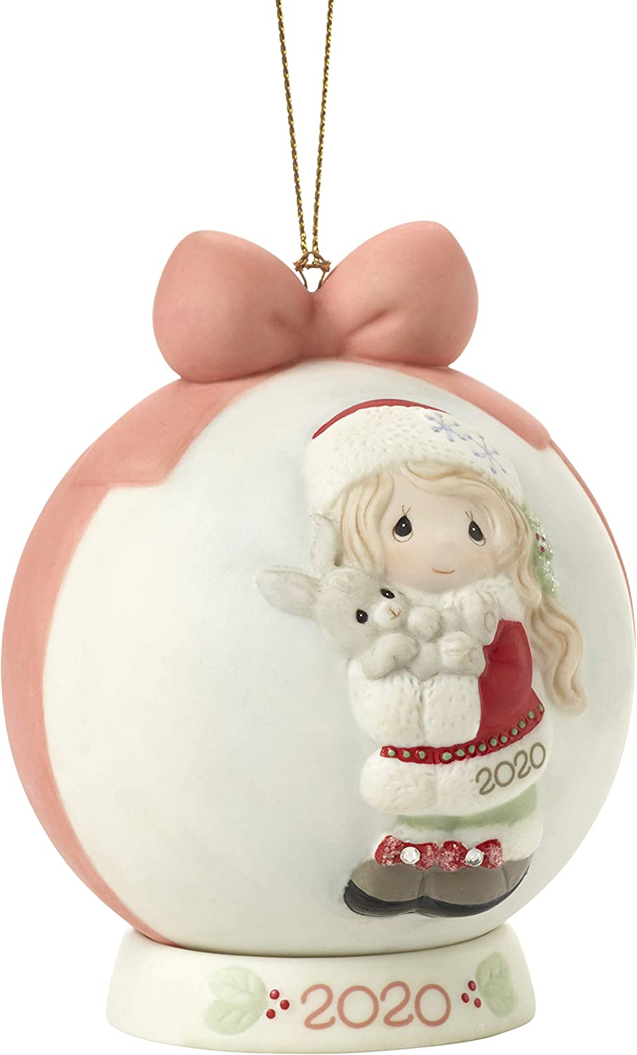Precious Moments 201003 Every Bunny Loves A Christmas Hug 2020 Dated Girl Bisque Porcelain Ball Ornament Multi Home Kitchen Amazon Com