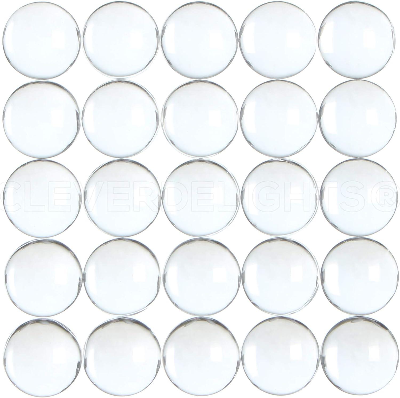 10 pcs acrylic cabochon 12 mm transparent